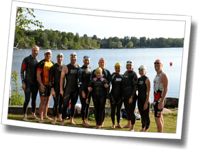 Athlete group shot at DZ Summer in Sudbury Big Training Day - Lake Nepahwin, Sudbury, Ontario