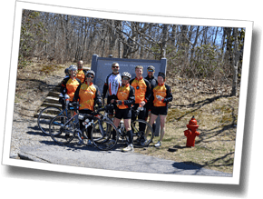 DZ athletes conquer the Blue Ridge Parkway bike to Mount Pisgah before tackling the steep trail run to the summit, DZ Asheville Spring Triathlon Camp 2014
