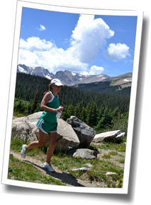 Juliana puts in a run at 10,000 feet of altitude during the Brainard Lake trip, part of the biggest day of training at The Boulder Experience 2013