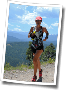 DZ athlete Heather runs the Switzerland Trail at over 8000 feet, after cycling the famous Sugarloaf Mountain Climb - The Boulder Experience, July 2014