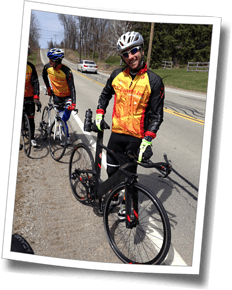 Steve after a double-pinch-flat tire change at Spring Triathlon Clinic 2015