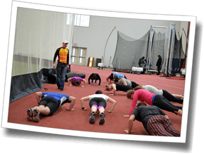 Core strength at Winter Triathlon Clinic 2015