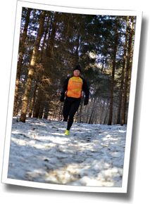 Associate Coach Mike Mahoney hits the trail, winter running 2014