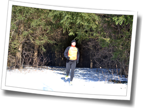 Associate Coach Mike Mahoney gets in some trail time, winter running 2014