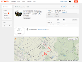 Strava is great for competing online and sharing rides and runs with friends.