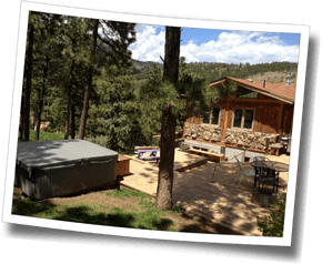 After a hard day's training, triathletes can relax on the large deck or enjoy the hot tub at Camp HQ